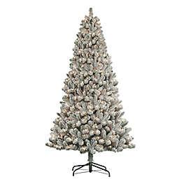 Puleo International 7.5-Foot Flocked Virginia Pine Artificial Christmas Tree in Green