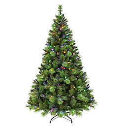 Puleo International 7.5-Foot Adirondack Pre-Lit Christmas Tree with Color-Select LED Lights