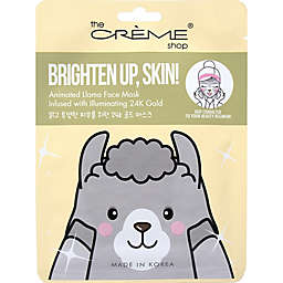 The Crème® Shop Brighten Up, Skin! Animated Llama Face Mask