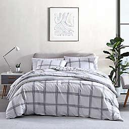 City Scene® Kita Plaid Comforter Set in Light Grey