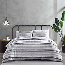 City Scene® Wooster Stripe Comforter Set in Black