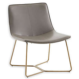 Madison Park Fallon Accent Chair in Brown/Gold