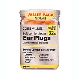 Harmon® Core Values™ 50-Pair Comfort Foam Earplugs