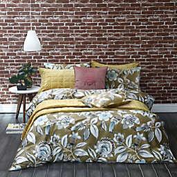 MM Linen Lark 3-Piece King Duvet Cover Set in Mustard