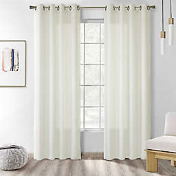 Commonwealth Home Fashions Rhapsody 84-Inch Double Grommet Window Curtain Panel in Ivory