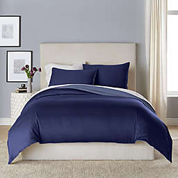 Canadian Living Solid 3-Piece Reversible Duvet Cover Set