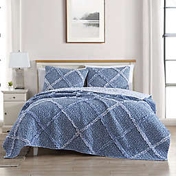 Laura Ashley® Ditsy Dance Quilt Set in Blue