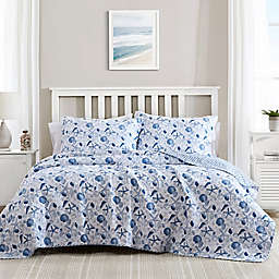 Laura Ashley® Sea Whispers Quilt Set in Blue