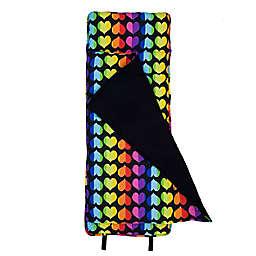 Olive Kids™ Rainbow Hearts Microfiber Nap Mat