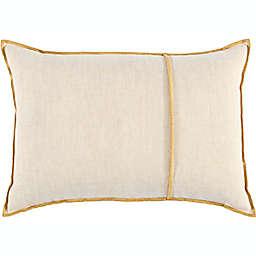 Studio 3B™ Chambray Oblong Throw Pillow in Golden Yellow