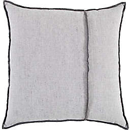 Studio 3B™ Chambray Throw Pillow with Contrast Stitching in Dark Grey