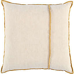 Studio 3B™ Chambray Throw Pillow with Contrast Stitching in Golden Yellow