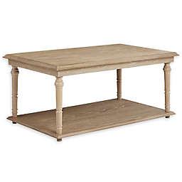 Martha Stewart Caryn 1-Shelf Triangle Coffee Table in Natural