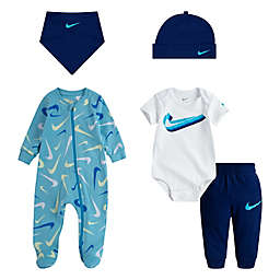 Nike® 5-Piece Swooshfetti Parade Layette Set in Blue