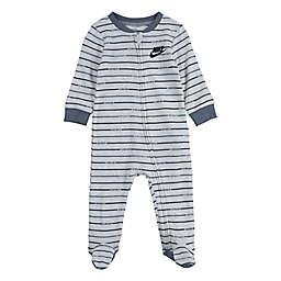 Nike® Just Do It Stripe Footie in Heather Grey