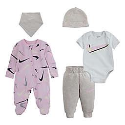 Nike® 5-Piece Swooshfetti Parade Layette Set in Yellow/Pink