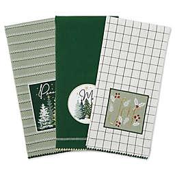 3-Piece Winter Woods Embellished Kitchen Towel Set