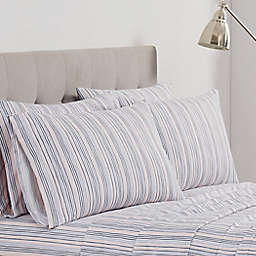 Simply Essentials Painterly Stripe Rose Standard Pillowcase Set