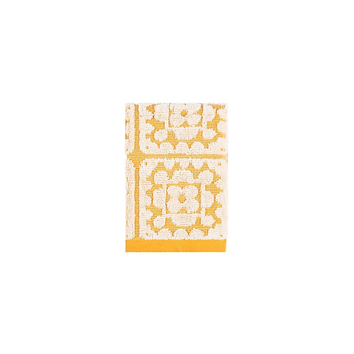 Alternate image 1 for Wild Sage™ Crochet Washcloth in Yolk Yellow