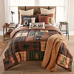 Your Lifestyle by Donna Sharp Brown Bear Cabin 3-Piece Reversible Comforter Set in Brown