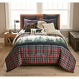 Donna Sharp® Bear Journey 3-Piece Reversible King Comforter Set in Red/Black