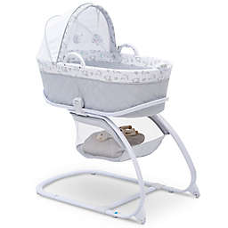 Delta Children® Elephant Dreams 2-in-1 Moses Bassinet in White