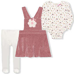 Nannette Baby® Size 6-9M 3-Piece Chenille Jumper, Bodysuit and Tights Set in Mauve