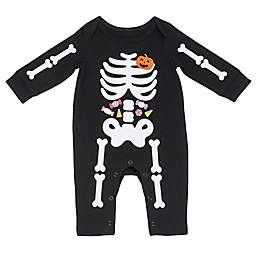 Baby Starters®  Skeleton Long Sleeve Coverall in Black