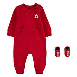 Converse® Lil Chuck Coverall and Bootie Set in Red