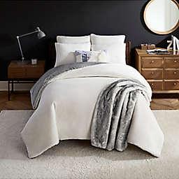 UGG® Coco Dawson 3-Piece Reversible King Comforter Set in Snow
