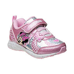 Disney® Minnie Mouse Size 12 Sneaker in Pink/Silver