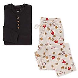 Burt's Bees Men's 2-Piece Henley T-Shirt with Milk and Cookies Lounge Pant Set