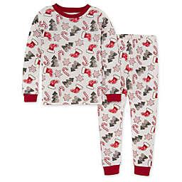 Burt's Bees® Big Kid's 2-Piece Holiday Cookies Pajama Set in Cardinal