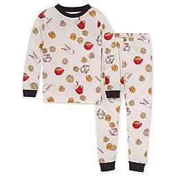Burt's Bees Big Kids' 2-Piece Milk and Cookies Pajama Set