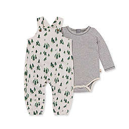 Burt's Bees Baby® Size 12M Holiday Pines Overall & Bodysuit Set