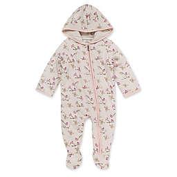 Burt's Bees Baby® Newborn Snowy Songbirds Organic Cotton Bunting Pram in White/Pink