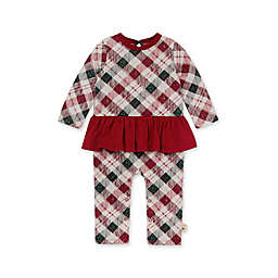 Burt's Bees Baby® Yuletide Plaid Sister Romper in Red/Green