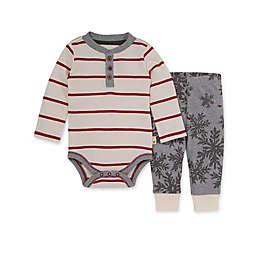 Burt's Bees Baby® Preemie 2-Piece Snowflake Flurries Bodysuit and Pant Set in Ivory/Red