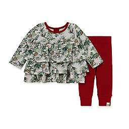 Burt's Bees Baby® 2-Piece Holiday Pines Tunic and Legging Set in Eggshell