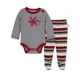 Burt's Bees Baby® Snowflake Flurries Applique Bodysuit & Footed Pant Set