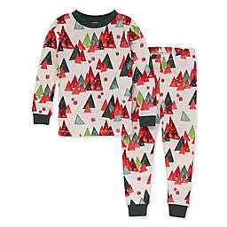 Burt's Bees® Size 2T Toddler 2-Piece Modern Forest Organic Cotton Pajama Set