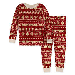 Burt's Bees Baby® Toddler 2-Piece Beary Fair Isle Pajama Set in Cardinal