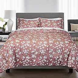 Springs Home Cherry Blossom 3-Piece Full/Queen Comforter Set in Red
