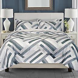 Springs Home Geometric 3-Piece King Comforter Set in Grey