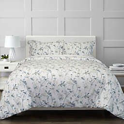 Springs Home Floral 2-Piece Twin/Twin XL Duvet Cover Set in Grey
