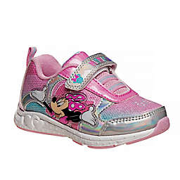 Disney® Size 12 Minnie Mouse Sneaker in Silver/Holographic Pink