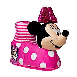 Disney® Minnie Mouse Size 9-10 Slipper in Fuchsia/White