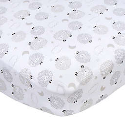 Gerber® Sheep Fitted Crib Sheet in White