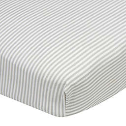 Gerber® Stripes Fitted Crib Sheet in Grey