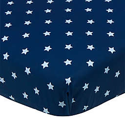 Gerber® Stars Fitted Crib Sheet in Blue